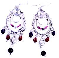 Vintage retro style tassel chandelier earrings