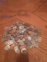 Lot of 100 Assorted World Foreign Coins! Mini coin Lot! + FREE Buffalo Head