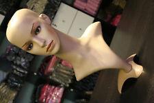 "Mannequin 20 "" Head Bust Vintage Wig Hat Jewelry Display model"