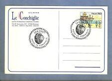 CARTOLINA RICCIONE 1992 le CONCHIGLIE CENTRO VACANZE ANNULLO SPECIALE RICCIONE