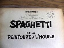 E.O. N°1 des aventures de Spaghetti avec dédicace Attanasio 1961 ed Jeune europe