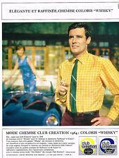 PUBLICITE ADVERTISING   1964   CLUB CREATION   mode chemise