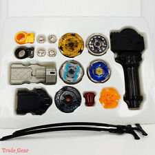 Beyblade Metal Masters Fusion Rotate Rip cord Launcher Beyblades Battle Set-C