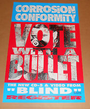 Corrosion of Conformity Vote with a Bullet Promo 1992 Original Poster RARE 24x36