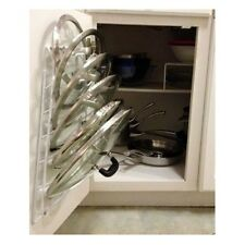 Kitchen Storage Cabinet Pot Lid Rack Cover Holder Organizer Pantry Cupboard