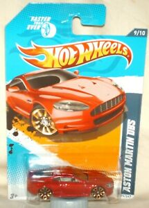 Hot Wheels 2012 Faster Than Ever Series Aston Martin DBS red, excellent card