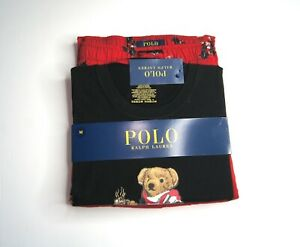 POLO RALPH LAUREN Men's Polo Cocoa Bear Pajama 2-Piece Set NEW NWT