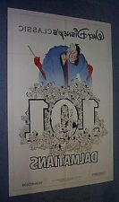 Original Movie Theater Poster 101 DALMATIONS Near Mint 2 SIDED