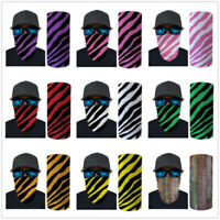 Striped Neck Gaiter Bandana Headband Face Scarf Shield Head Cover Snood Scarves