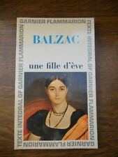 Balzac: Une fille d'ève/ Garnier-Flammarion, 1965