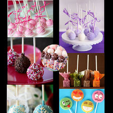 100pcs Pop Food Sucker Sticks Making Chocolate Cake Lollipop Sweet Candy Holder