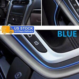 5M Car Interior Decor Blue Point Edge Gap Door Panel Accessories Molding Line US