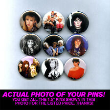 """80s LADIES w/ JOAN JETT DEBBIE GIBSON TIFFANY TINA & MORE  - 1.5"""" PINS / BUTTONS"""