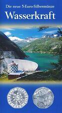 Österreich 5 Euro 2003 Silber Wasserkraft hgh im Blister