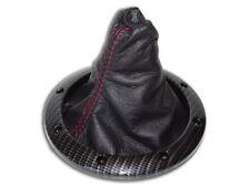 Gear gaiter argent carbone cadre en plastique pour AUDI TT 1998-2006 Cuir Couture Rouge