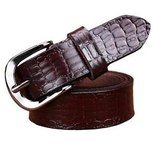 Women Belt from Genuine Leather Crocodile Pattern Cowskin Female Waistband