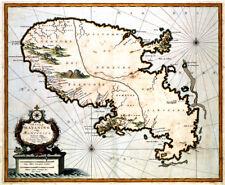 Reproduction carte ancienne - Martinique vers 1690