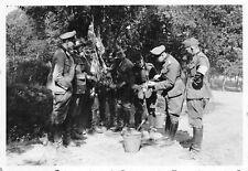 Deutsche Soldaten beim Schwein schlachten Leczyka Polen