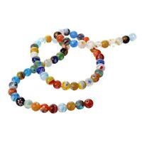 Murano Glass Beads Strand 6mm Multicolor W2A4