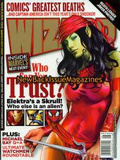 Wizard 8/07,Elektra,Skrull,Marvel,Captain America,Michael Bay,Transformers,Watch