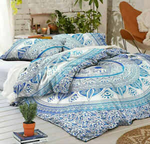 Bedding Set Duvet Quilt Cover King Size Luxury MandalaHippie Gypsy Indian Cover