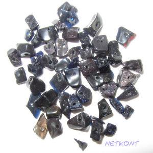 50 Edelstein Splitter gebohrt, viele Steinsorten, Stein, ca. 1-6mm NEU