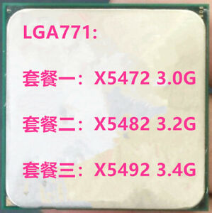 Intel Intel Xeon Quad-Core X5472 X5482 X5492  Socket 771 / LGA771 12M CPU