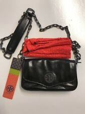 NWT Tory Burch Classic Mini Black Leather Shoulder Bag Purse Crossbody Clutch