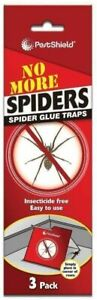 3pk PestShield Spider Trap Poison Free Glue Boards Humane Insect Pest Control