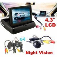 "HD 4.3"" Car Rear View Monitor Wireless NTSC Car Backup Camera Parking System Kit"