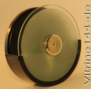 Design WANDLAMPE BAUHAUS Leuchte schwarz satiniertes Glas Ø19cm Wandabstand 6cm