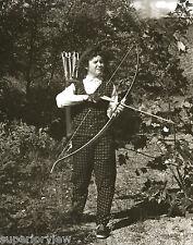 Vintage Female Archer Plaid Archery Outfit Woman Archer Bow Arrows Quiver GREAT