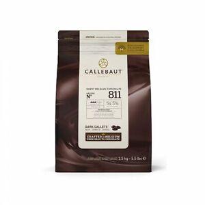 Callebaut No 811 Finest Belgian Dark Chocolate Callets Couverture 54.5% - 2.5Kg