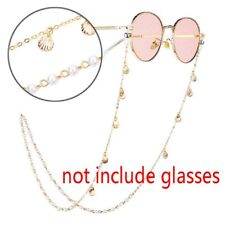 Women Girls Fashion Pearl Shell Anti-Slip Chain Sunglasses Eyeglass Strap