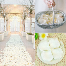 100pcs Wedding Silk Rose Petals Bridal Flowergirl Basket Fake Flower Decoration