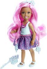 Barbie Muñeca cerraduras de cabello largo rosa Chelsea pelo sin fin Reino DKB54 DKB55