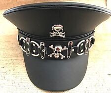 SDL Industrial Military Hat With Metal Skull Badge And Belt  In Size 58cm M