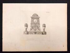 Antico 1800 Arch. stampa costruttori Rivista di un progetto per un orologio CASE cxlix