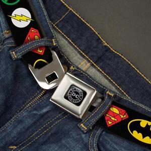 Buckle Down Seatbelt Belt - JUSTICE LEAGUE DC Comics Batman Hornet - Made in USA