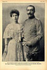 Der Regent Erbprinz Ernst zu Hohenlohe-Langenburg & Gemahlin Alexandra c.1905
