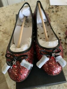 New Authentic Coach Limited Edition Wizard of Oz Ruby Ballet Slipper Shoes Sz 7