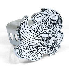 Harley-Davidson Live to Ride Eagle Metal Tow Hitch Cover