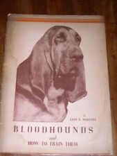 More details for rare bloodhound dog book by whitney 1st 1937 privately printed