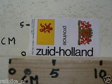 STICKER,DECAL ZUID-HOLLAND PROVINCIE