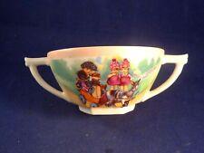 Ancienne rare tasse enfant porcelaine jouet clown poupée voiture pédale Limoges