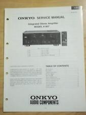 Original Onkyo Service Manual for the A-807 Amp Amplifier~Repair