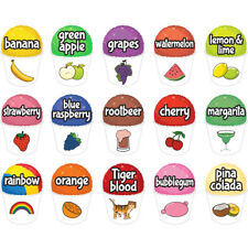 15 Snowcone Set Concession Decal Sign Cart Trailer Stand Sticker Equipment