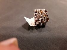SILVER STRETCH COCKTAIL RING WITH COLOR STONES. A REAL CHARM...FREE SHIPPING.