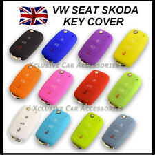Key Cover For VW Seat Skoda 3 Button Flip Key Fob Case Hull Silicone Rubber 57*