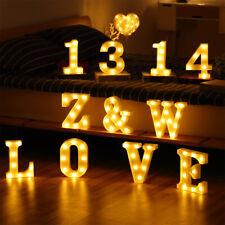 Led Night Light Lamp Luminous Alphabet Letter Lights Sign Decor Nursery Baby